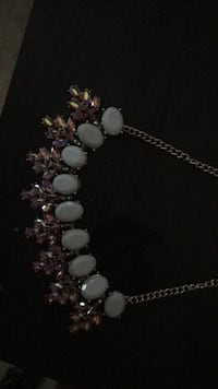 Purple and crystal beaded necklace Arlington, 22205