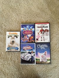 Five assorted-title dvd's 3 km