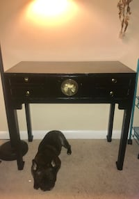 black wooden single-drawer end table Springfield, 22152