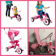 4 in 1 convertible pink trike (no flaws)