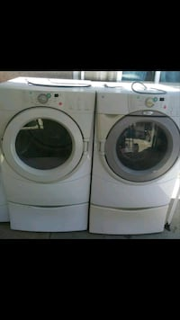white front-load washer and dryer set Bakersfield, 93307