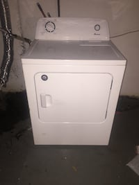 White Amana Washer / Gas Dryer. New condition, purchased Jan. 2017. All parts & hose included. $300 for set