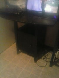 Black table with double fold down 300 mi