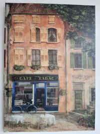 French Cafe Canvas Wall Art Oakville