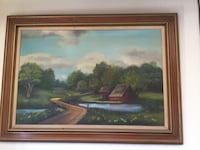 Painting. Large painting of barn Porterville, 93257