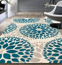 Beautiful Turquoise Blue Area rugs. 5ft x 7ft.  Charlotte, 28262