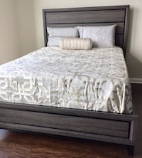 New Black & Gray Two Toned Queen Bed  Silver Spring