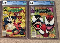 Amazing Spider-Man 362 & 363 2nd & 3rd CARNAGE CGC Graded Comics Fine/Very Fine, Near Mint - Stockton, 95215