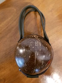 Coconut purse made in Hawaii