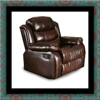 Burgundy recliner chair 52 km