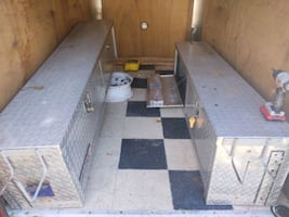 Set of 6ft truck bed tool boxes