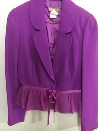 LUCA LUCA ladies purple jacket Blazer sz 46/10