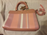 women's pink and brown leather 2-way bag Fresno, 93704
