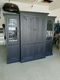 black wooden entertainment cabinet