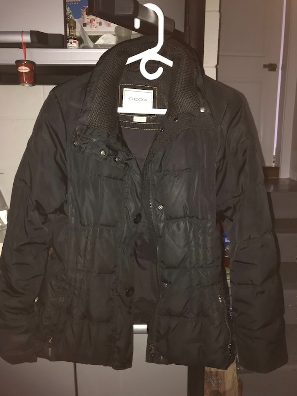 Black zip-up jacket and Red jacket both geox $25 each faux fur on red and hood no hood on black very warm and cozy haven't worn a lot brand new !!!