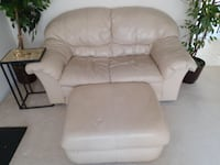 4pc Cream Leather Couch Set Rock Hill, 29732