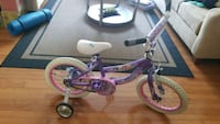toddler's purple and white bicycle with training wheels Odenton, 21113