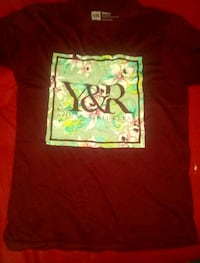 Burgundy Young & Reckless T-Shirt (mens small)