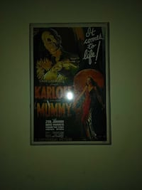 It comes to life! Karloff Mummy poster