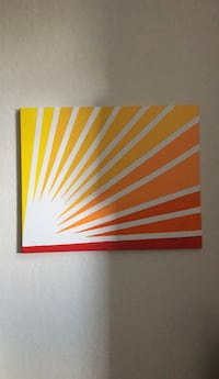 Red and white abstract painting West Palm Beach, 33409