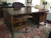Partner Desk from South Africa  top is 4'x6'  4 drawers each side WASHINGTON