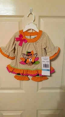 Cute little girl Thanksgiving outfit 3-6 mths