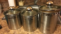 three stainless steel canister Lynn, 01902