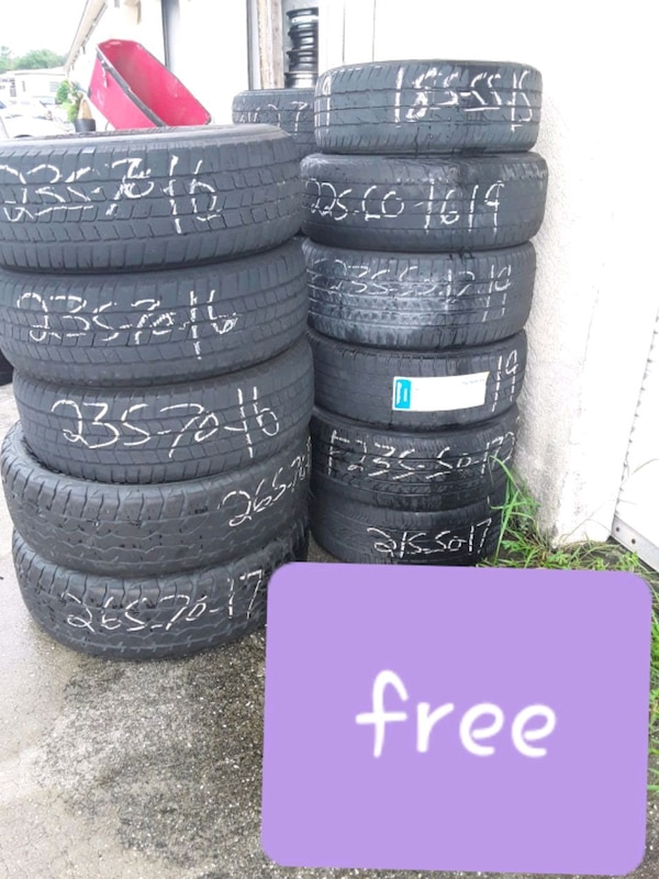 Lots of 16 and 17 inch tires