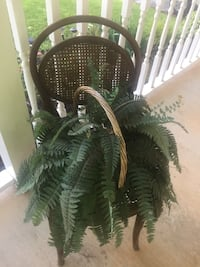 Wicker chair & basket/fern Fort Smith, 72901