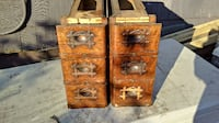 Antique Ornate Wood Sewing Drawers Crafts Wine Rack Roslyn Heights