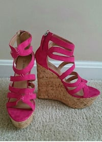 pair of pink open-toe strappy heeled sandals Fairfax, 22030