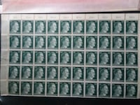 50 cent plate block of 50 Hitler new stamps Harpers Ferry, 25425