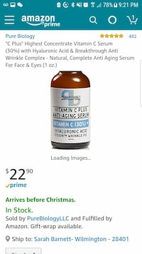 Pure biology anti-aging vitamin-c serum new