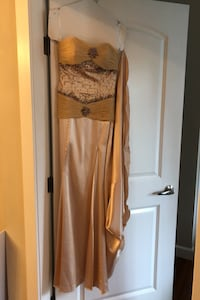 Champagne colored gown  Vancouver, V5Z 1S4