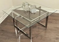 Brand New Square Chrome Coffee Table--Delivery Included!
