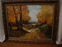 PAINTING - OIL ON CANVAS - ONTARIO COUNTRY ROAD