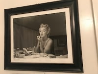 Marilyn Monroe photo with black wooden frame Gaithersburg, 20878
