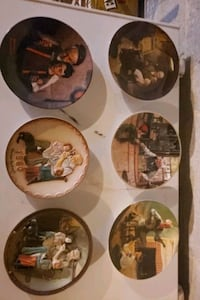 Norman rockwell plate set of 6 Hopewell Junction, 12533
