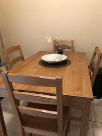 IKEA Table with 4 set chairs, clean used  London, N6A 3L8