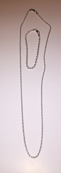 Sterling silver rope chain and bracelet