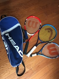Tennis bag and rackets Falls Church, 22043