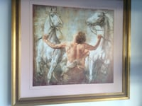 man holding white horse with brown wooden frame Rancho Santa Margarita, 92688
