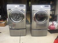 two gray front-load clothes washer and dryer set Greensboro, 27405