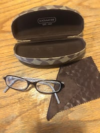 Coach Glasses, Bubble Case & Matching Smooth Cloth