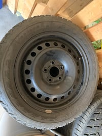 215/55/R16 Firestone winter tires on rims