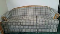 green and cream plaid 3 seated couch and love seat Aromas, 95004