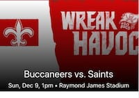 Bucs vs saints tickets  Tampa, 33614