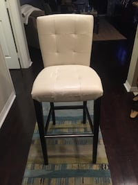 Brown wooden framed white leather padded chair Estero, 33928