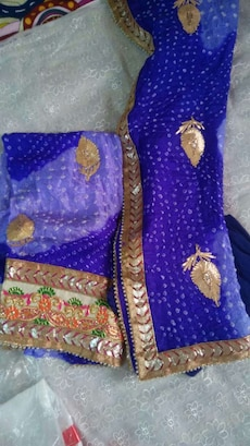 purple and brown textiles