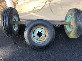 Heavy Duty Trailer Axle and Tires